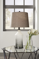 Ashley Express Furniture - Nollie - L430534 - Glass Table Lamp (2/CN), Gray