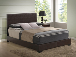 Global Furniture 8103-BR-QB (M) QUEEN BED BROWN BROWN GLOSS