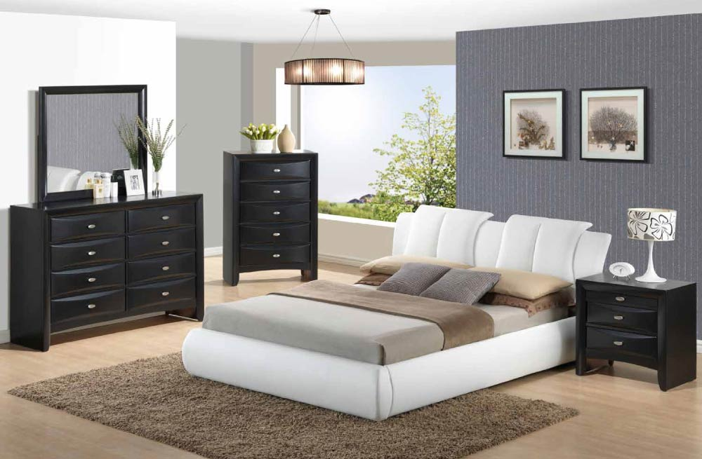 Global furniture 8269 wh linda bl white linda black for Zfurniture alexandria