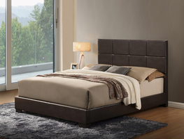 Global Furniture 8566 ABC-QB QUEEN BED BROWN BROWN GLOSS