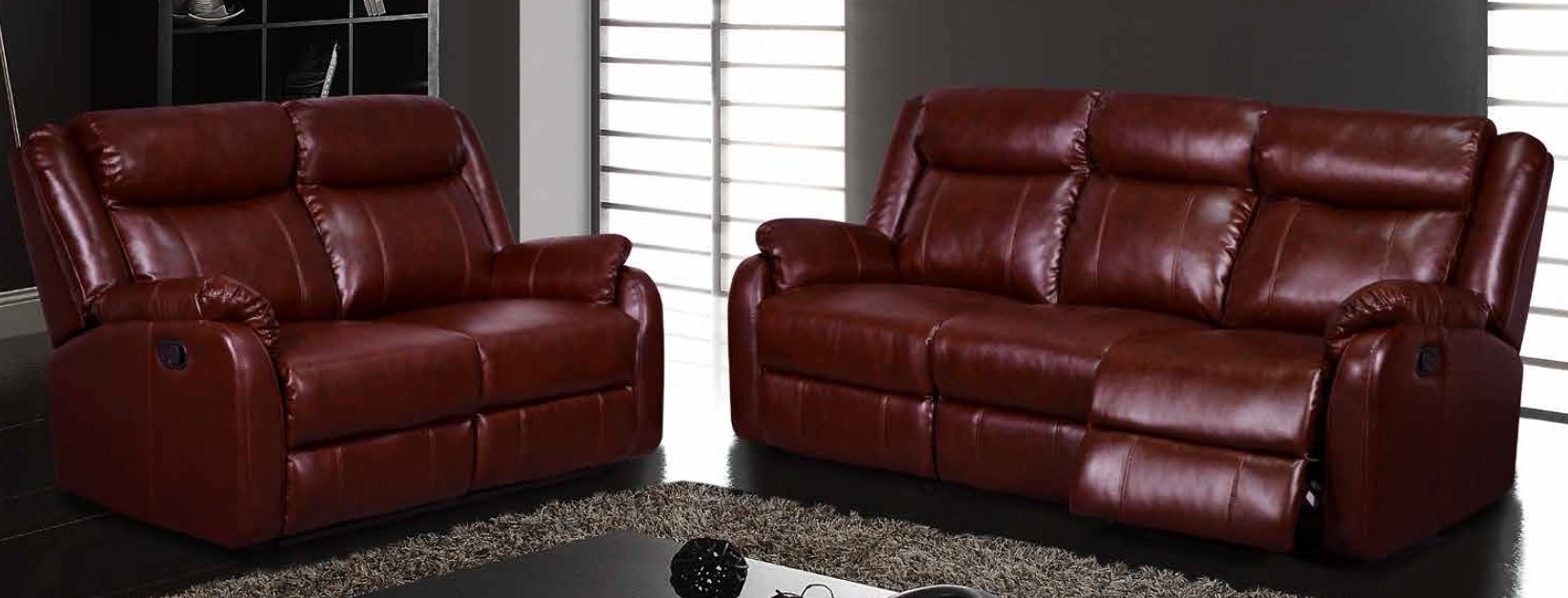 Global Furniture Burgundy Reclining Sofa