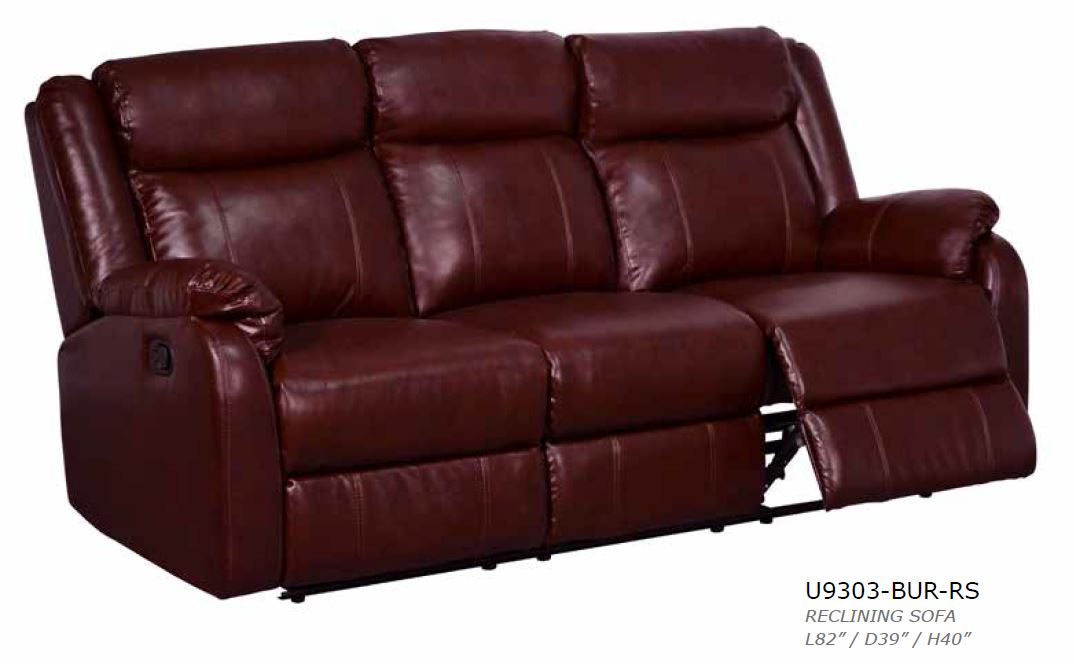 Global Furniture Burgundy Reclining Sofa Reclining Loveseat And Glider Recliner