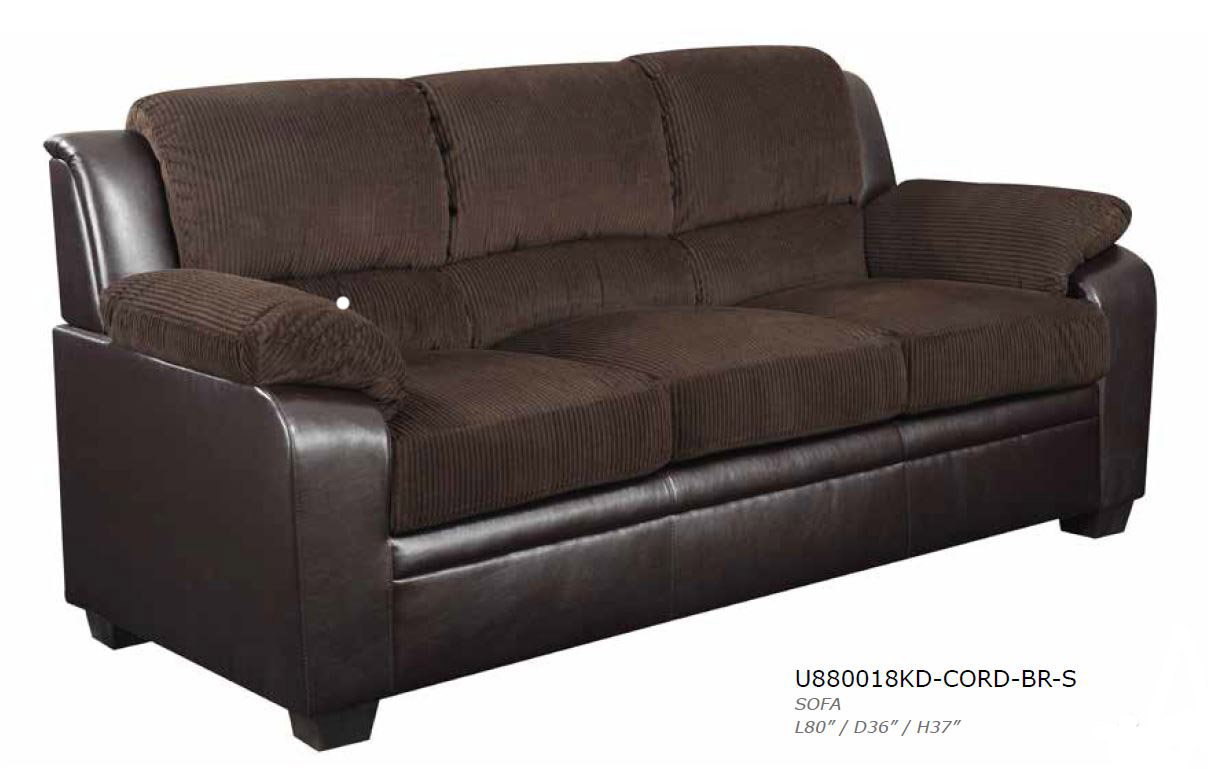 global furniture chocolate corduroy sofa