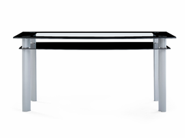 Global Furniture D1058NDT (M) DINING TABLE BLACK/SILVER