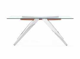 Global Furniture D1305DT  DINING TABLE Glass, Stainless Steel