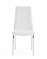 Global Furniture D16012DC DINING CHAIR TWO-TONE WHITE/KHAKI