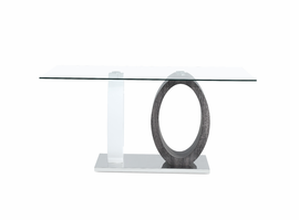 Global Furniture D1628DT DINING TABLE WHITE HG/GREY PAPER