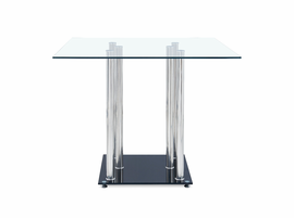 Global Furniture D368BT BAR TABLE Tempered Glass, Stainless Steel