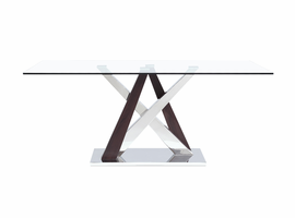 Global Furniture D4100DT DINING TABLE WENGE/STAINLESS STEEL