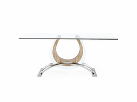 Global Furniture D4202DT DINING TABLE Glass, MDF, Stainless Steel