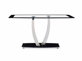 Global Furniture D716DT (M) DINING TABLE CLEAR/BLACK/CHROME