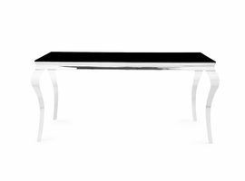 Global Furniture D858DT DINING TABLE GLASS/STAINLESS STEEL