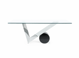 Global Furniture D987DT  DINING TABLE STAINLESS STEEL