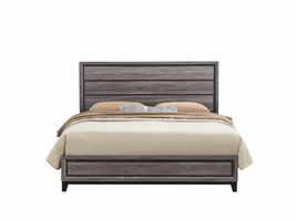 Global Furniture KATE-QB QUEEN BED FOIL GREY