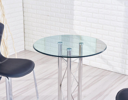 Global Furniture M208BT (M) BAR TABLE Glass, Stainless Steel, Marble Base