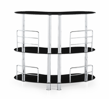 Global Furniture MBT02-BL (M) BAR TABLE Tempered Glass, Stainless Steel
