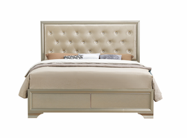 Global Furniture NOELLE-QB QUEEN BED CHAMPAGNE