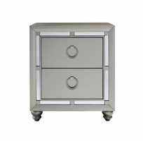 Global Furniture RILEY (1621) NIGHT STAND NIGHTSTAND SILVER