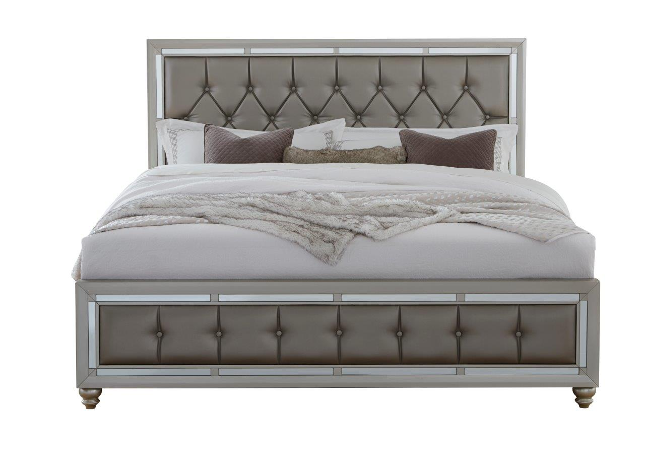 Global Furniture Riley Kb King Bed Silver