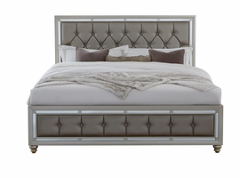 Global Furniture RILEY-QB QUEEN BED SILVER
