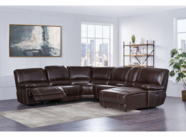 Global Furniture U1953-SEC 6 PCS SECTIONAL BROWN