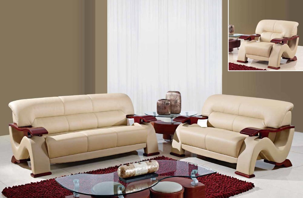 Elegant Global Furniture U2033 RV CAPP Bonded Cappuccino Sofa, Loveseat And Chair
