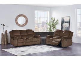 Global Furniture U3118C-SUBARU MOCHA-SECTIONAL 3PC SECTIONAL W/STEREO WEDGE SUBARU MOCHA