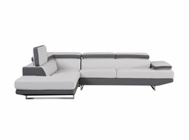 Global Furniture U8137N-2PC SEC (M) SECTIONAL NATALIE LT GREY/DK GREY NATALIE LT GREY/DK GREY