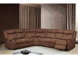 Global Furniture U8303 S 022 Chocolate 3 Piece Sectional