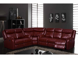 Global Furniture U9303 BUR Burgundy 3 Piece Sectional