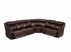 Global Furniture U9303C-BR-3PC SEC (SP) 3PC SECTIONAL BROWN BROWN