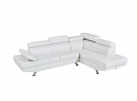 Global Furniture U9782N-WH-SECTIONAL (M) 2PC SECTIONAL WHITE WHITE