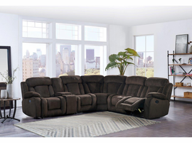 Global Furniture U9867-SECTIONAL 6PCS SECTIONAL BROWN