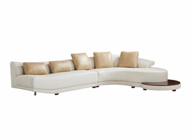 Global Furniture UFM208 - SECTIONAL SECTIONAL BLANCHE MILKY/BLANCHE IVORY BLANCHE MILKY/BLANCHE IVORY
