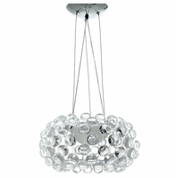 """Halo 14"""" Chandelier, Clear [FREE SHIPPING]"""