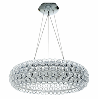 """Halo 25"""" Chandelier, Clear [FREE SHIPPING]"""
