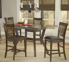 Hillsdale Arbor Hill 5-Piece Counter Height Dining Set in Colonial Chestnut