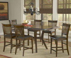Hillsdale Arbor Hill 7-Piece Counter Height Dining Set in Colonial Chestnut