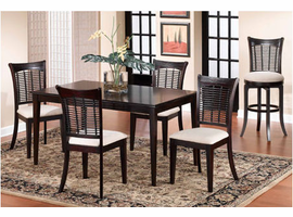 Hillsdale Bayberry Dark Cherry Rectangle Dining Set