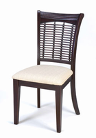 Hillsdale Bayberry Dark Cherry Wicker Dining Chair - Set of Two