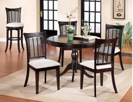 Hillsdale Bayberry Dark Cherry Wicker Dining Set