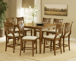 Hillsdale Bayberry Oak Gathering Set with Glenmary Stools