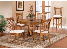 Hillsdale Bayberry Oak Wicker Dining Table