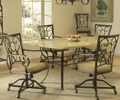 Hillsdale Brookside 5-Piece Rectangle Dining Set in Brown Powder Coat