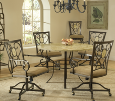Hillsdale Brookside 5-Piece Round Dining Set in Brown Powder Coat