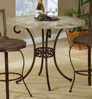 Hillsdale Brookside Brown Powder Coat Counter Height Dining Table