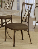 Hillsdale Brookside Brown Powder Coat Diamond Chair - Set of 2