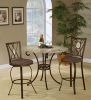 Hillsdale Brookside Counter Height Dining Set with Diamond Back Stools