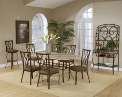 Hillsdale Brookside Dining Set with Diamond Back Chairs