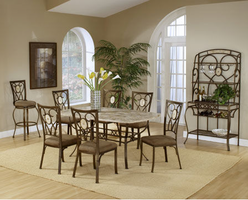 Hillsdale Brookside Dining Set with Oval Back Chairs